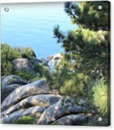 Lake Tahoe And Boulders Acrylic Print