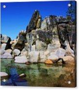 Lake Tahoe- Pyramid Of Rocks Acrylic Print