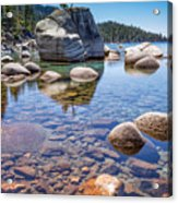 Lake Tahoe Rocks Acrylic Print