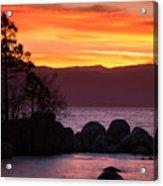 Lake Tahoe Sunset Colors Acrylic Print