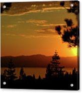 Lake Tahoe Sunset Acrylic Print