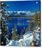 Lake Tahoe Winter Acrylic Print by Vance Fox