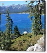 Lake Tahoe With Mountains Acrylic Print