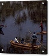 Lake Titicaca Reed Boats Acrylic Print
