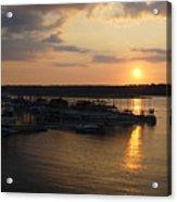 Lake Travis Sunset Over Carlos N Charlies Acrylic Print