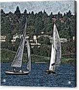 Lake Union Regatta Acrylic Print