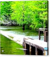 Lake Waccamaw Dam Acrylic Print