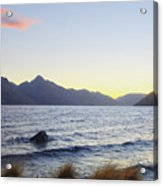 Lake Wakatipu At Sunset Acrylic Print