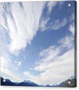Lake Wakatipu Sky Acrylic Print by Barry Culling
