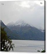 Lake Wanaka On A Rainy Spring Day Acrylic Print