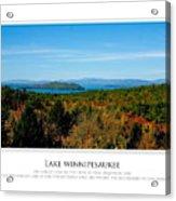Lake Winnipesaukee - Fall Acrylic Print by Jim McDonald Photography