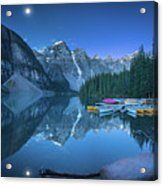 Lake With Moon At Four Am Acrylic Print