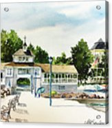 Lakeside Dock And Pavilion Acrylic Print
