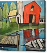 Lakeside Farm Acrylic Print