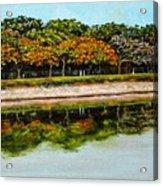 Lakeside Joggers Path Acrylic Print