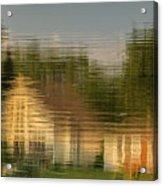Lakeside Living On Wiggins Lake - Abstract Acrylic Print