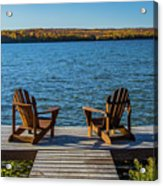 Lakeside Seating For Two Acrylic Print