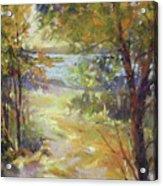 Lakeside Sunglow Acrylic Print