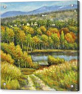 Lakeside Trail In Autumn Acrylic Print