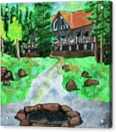 Lakewoods Lodge Acrylic Print
