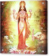 Lakshmi Goddess Of Fortune And Prosperity Acrylic Print