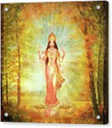 Lakshmi Vision In The Forest  Acrylic Print