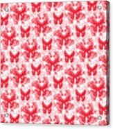 Lalabutterfly Red And White Acrylic Print