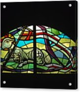 Lamb Stained Glass Window Acrylic Print