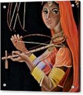 Lambani Girl Acrylic Print