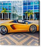 Lamborghini Gold Acrylic Print