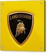 Lamborghini Logo Acrylic Print