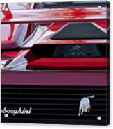 Lamborghini Rear View Acrylic Print by Jill Reger