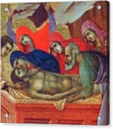 Lamentation Of Christ Fragment 1311 Acrylic Print