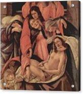 Lamentation Over The Dead Christ 1490 Acrylic Print