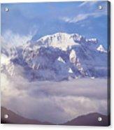 Lamjung Himal Peak Above The Clouds Acrylic Print