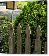 Lamp And Gate Acrylic Print