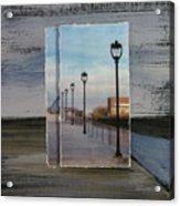 Lamp Post Row Layered Acrylic Print