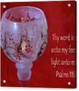 Lamp Unto My Feet Acrylic Print
