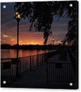 Lamplight And Daybreak  Acrylic Print