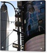 Lampost And Lightning Acrylic Print