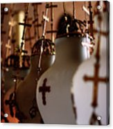 Lamps Inside The Church Of The Holy Sepulchre, Jerusalem Acrylic Print