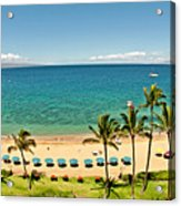 Lanai And Molokai Acrylic Print by Jim Chamberlain