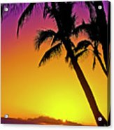 Lanai Sunset II Maui Hawaii Acrylic Print