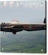 Lancaster Aj-g Carrying Upkeep Acrylic Print
