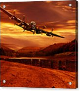 Lancaster Over Ouzelden Acrylic Print by Nigel Hatton