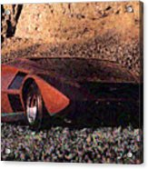 Lancia Stratos Zero Acrylic Print