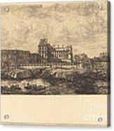 L'ancien Louvre D'apr?s Une Peinture De Zeeman, 1651 (the Old Louvre, From A Painting By Zeeman, L651) Acrylic Print