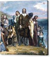 Landing Of Pilgrims, 1620 Acrylic Print