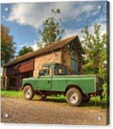 Landrover And The Barn Acrylic Print