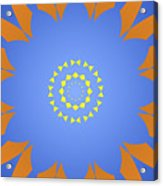 Landscape Abstract Blue, Orange And Yellow Star Acrylic Print